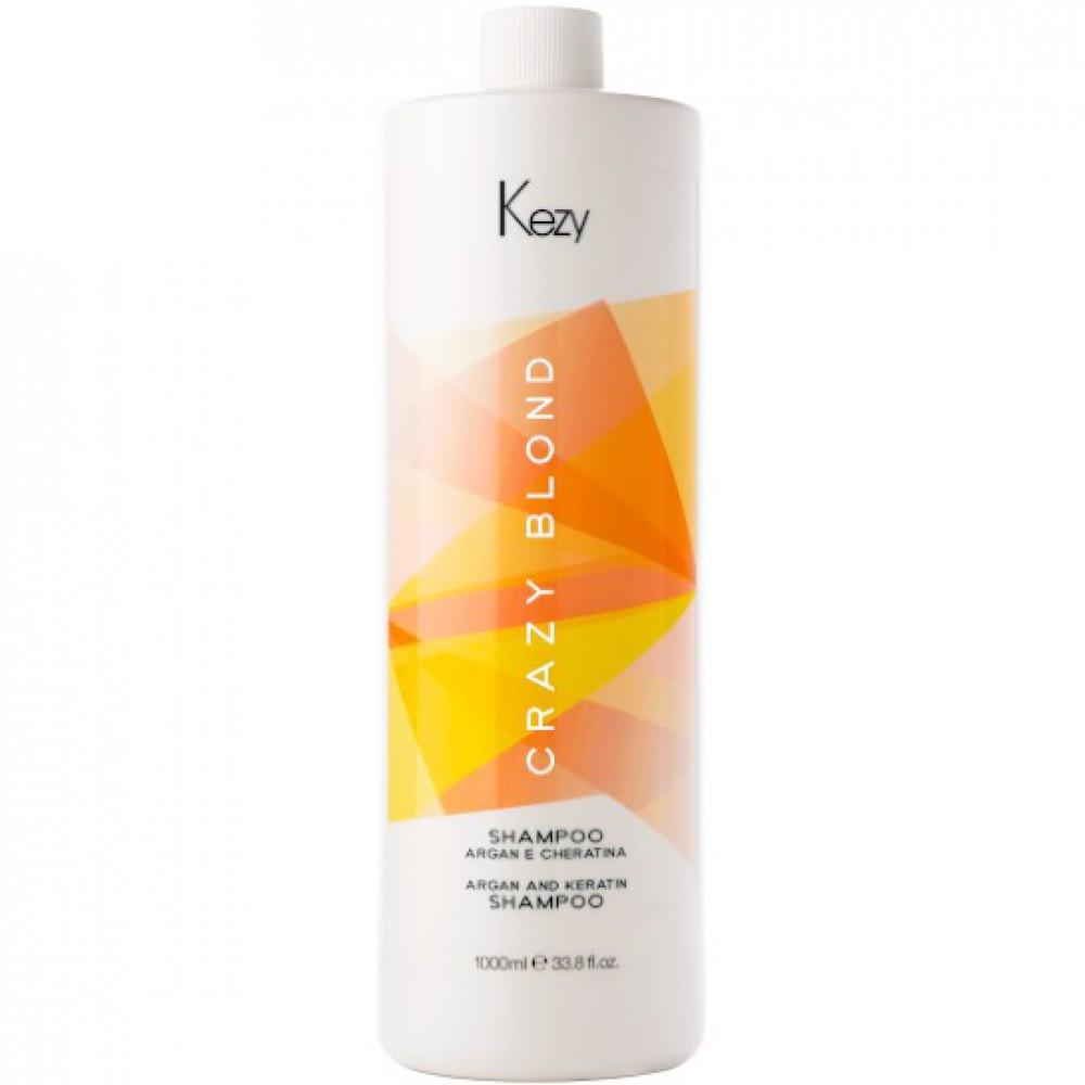 Шампунь деликатный для поврежденных волос Crazy Blond Shampoo Kezy