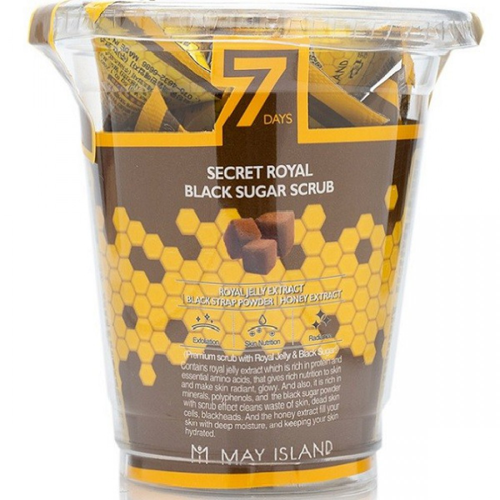 Сахарный скраб для лица 7 Days Secret Royal Black Sugar Scrub May Island