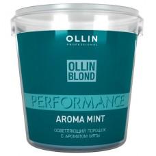 Осветляющий порошок с ароматом мяты Blond Performance Powder Aroma Mint Ollin