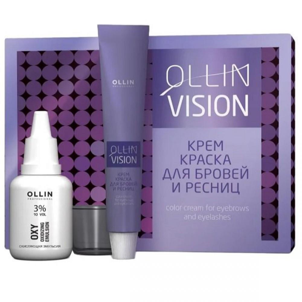 Набор для окрашивания бровей и ресниц Vision Set Ollin