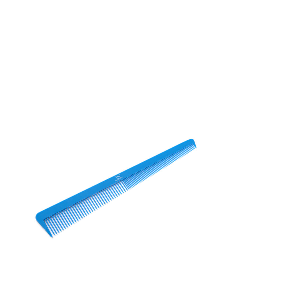 Расческа для стрижек, комбинированная, зауженная, синяя TNL