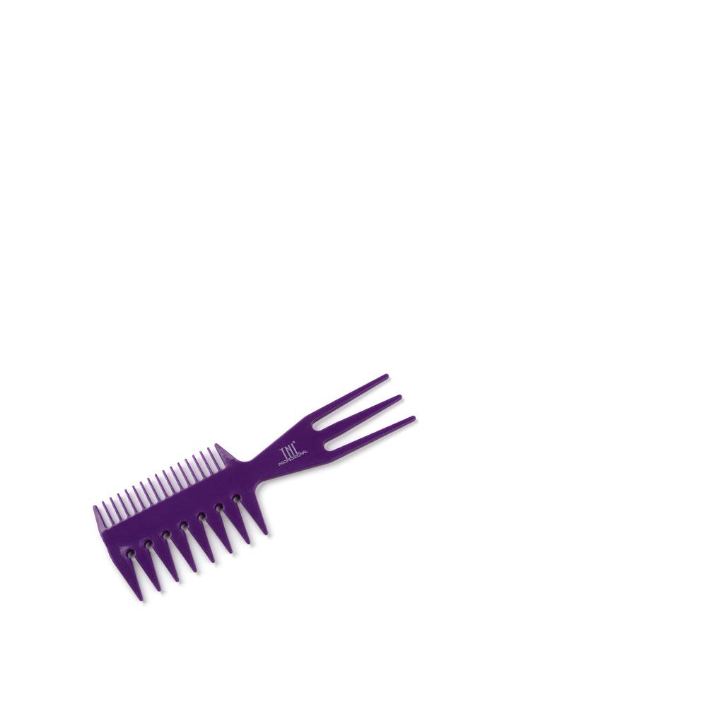 Расческа для мелирования комбинированная, двухсторонняя фиолетовая TNL