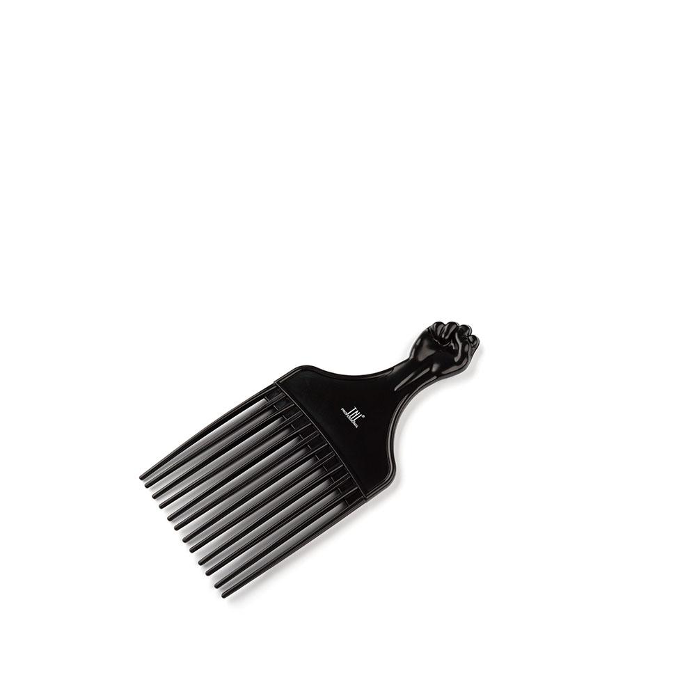 """Гребень для моделирования прически """"Ручка"""" с широкими зубьями, средний, черный TNL"""