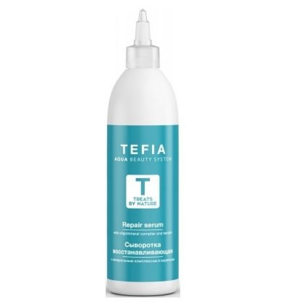 Сыворотка восстанавливающая с минеральным комплексом и кератином Treats by Nature Tefia