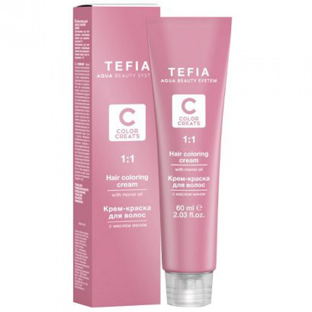 Крем-краска для волос с маслом монои Tefia