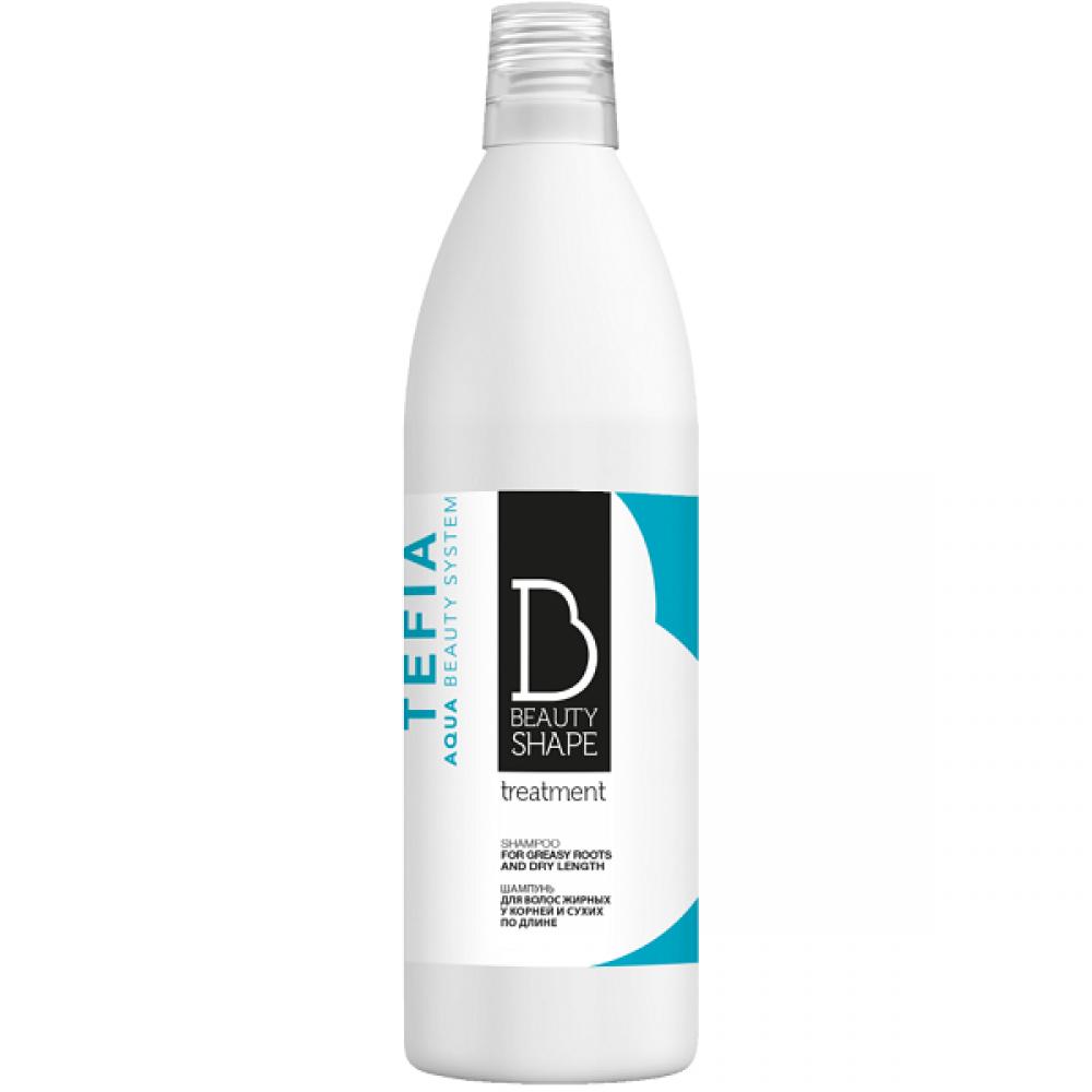 Шампунь для волос жирных у корней и сухих по длине Beauty Shape Tefia