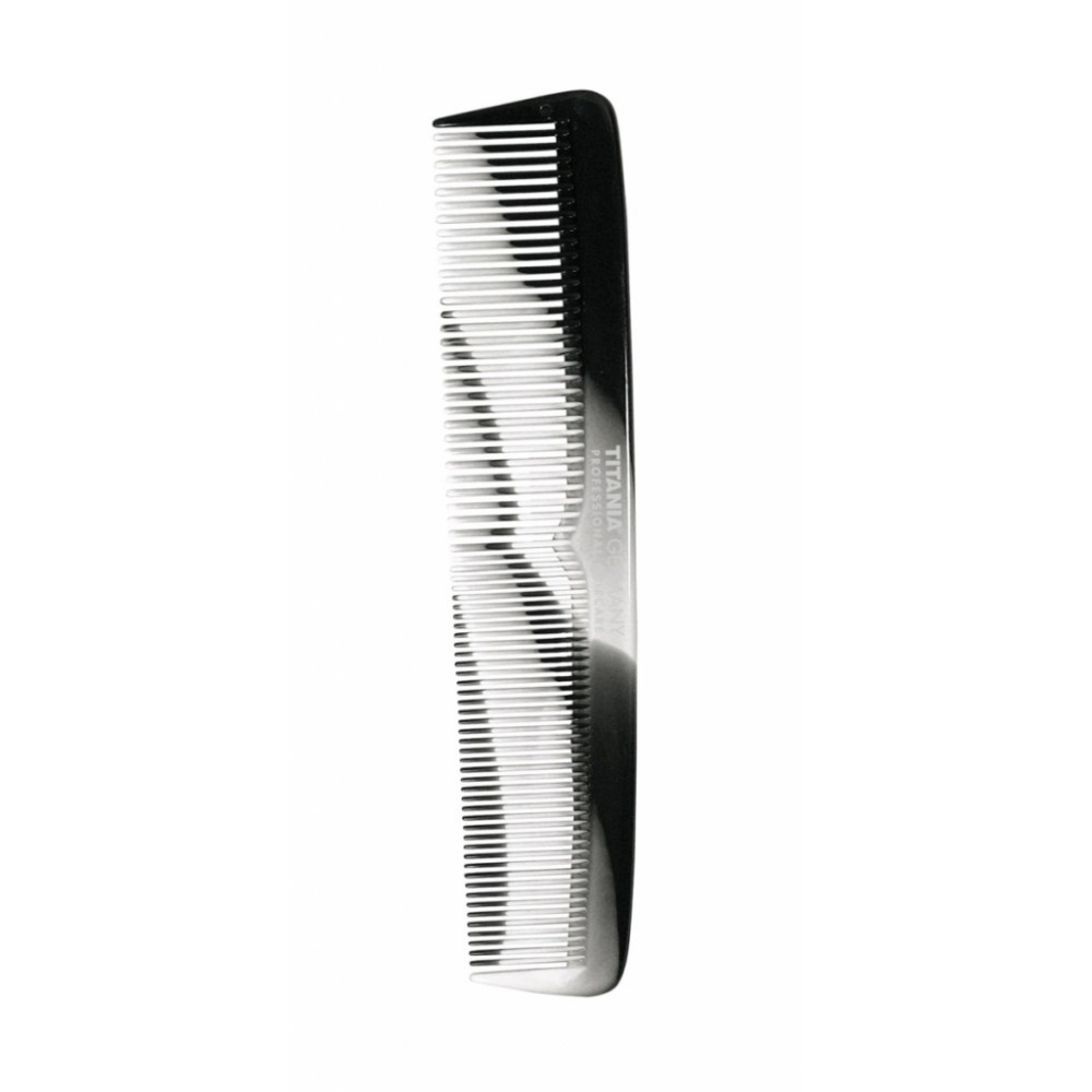 Расческа пластиковая 195мм серо-черная 1809/4 Titania