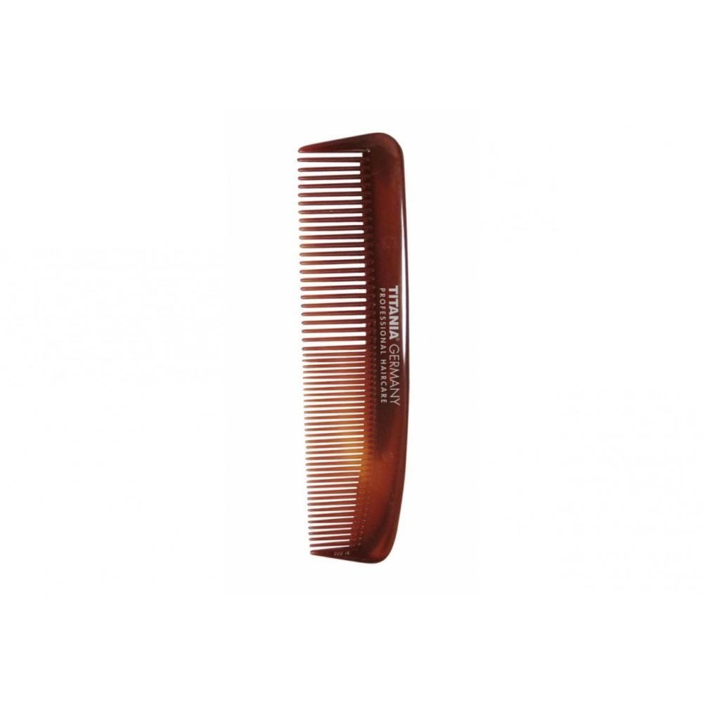 Расческа пластиковая125мм коричневая 1810/8 Titania