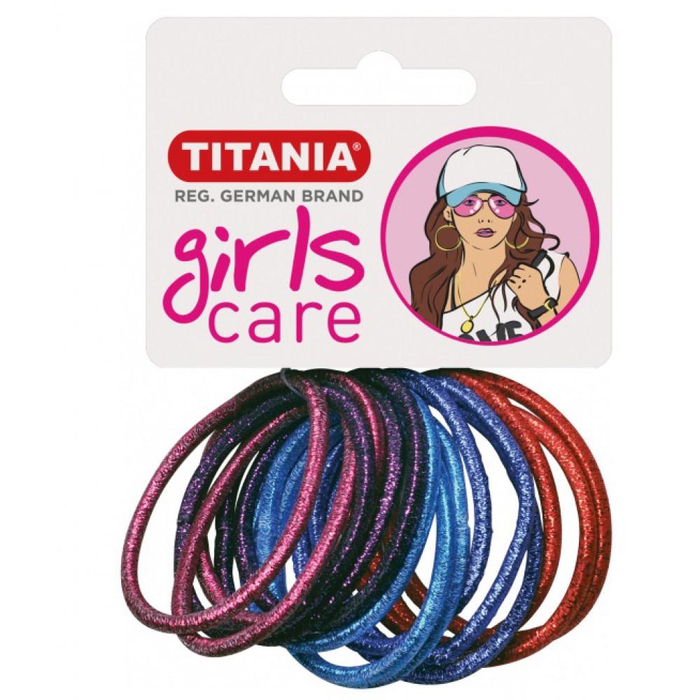 Резинки 4 см 15 шт/уп цветные 7891 GIRL 29064 Titania