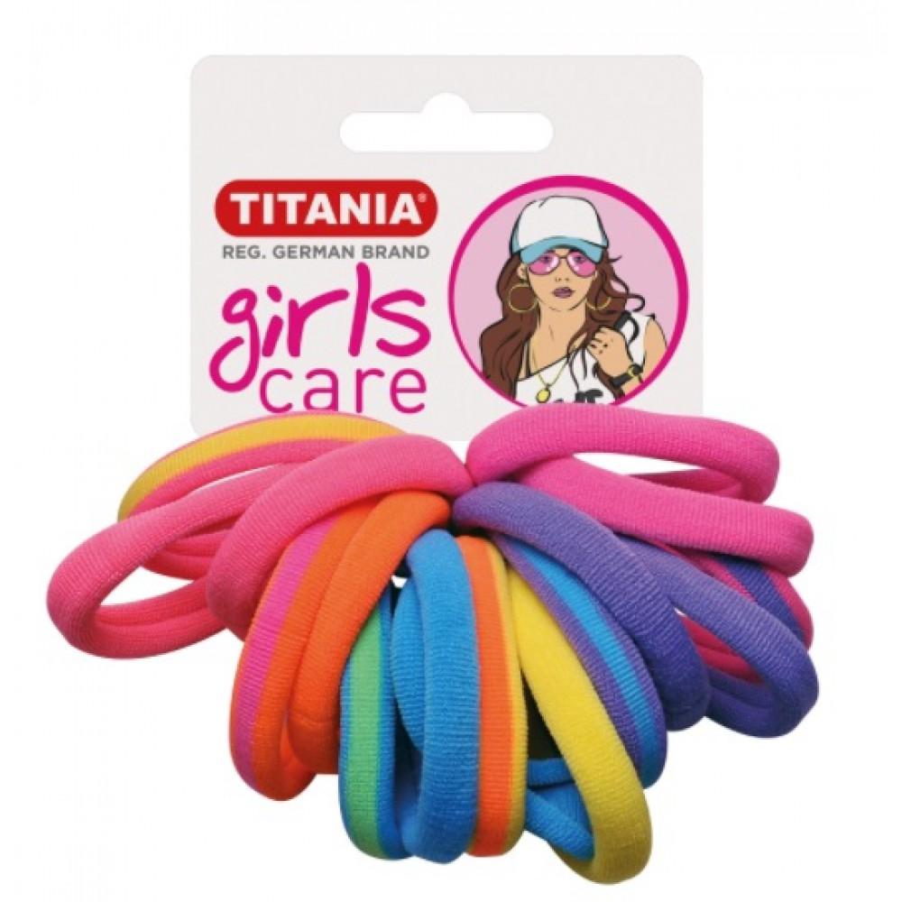 Резинки 4 см 16 шт/уп цветные 7828 GIRL 29067 Titania