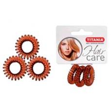 Резинки 2,5см 3шт/уп коричневые пружина 7915 29048 Titania