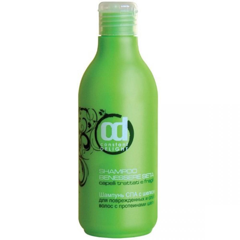 Шампунь с протеинами шелка для поврежденных волос Constant Delight
