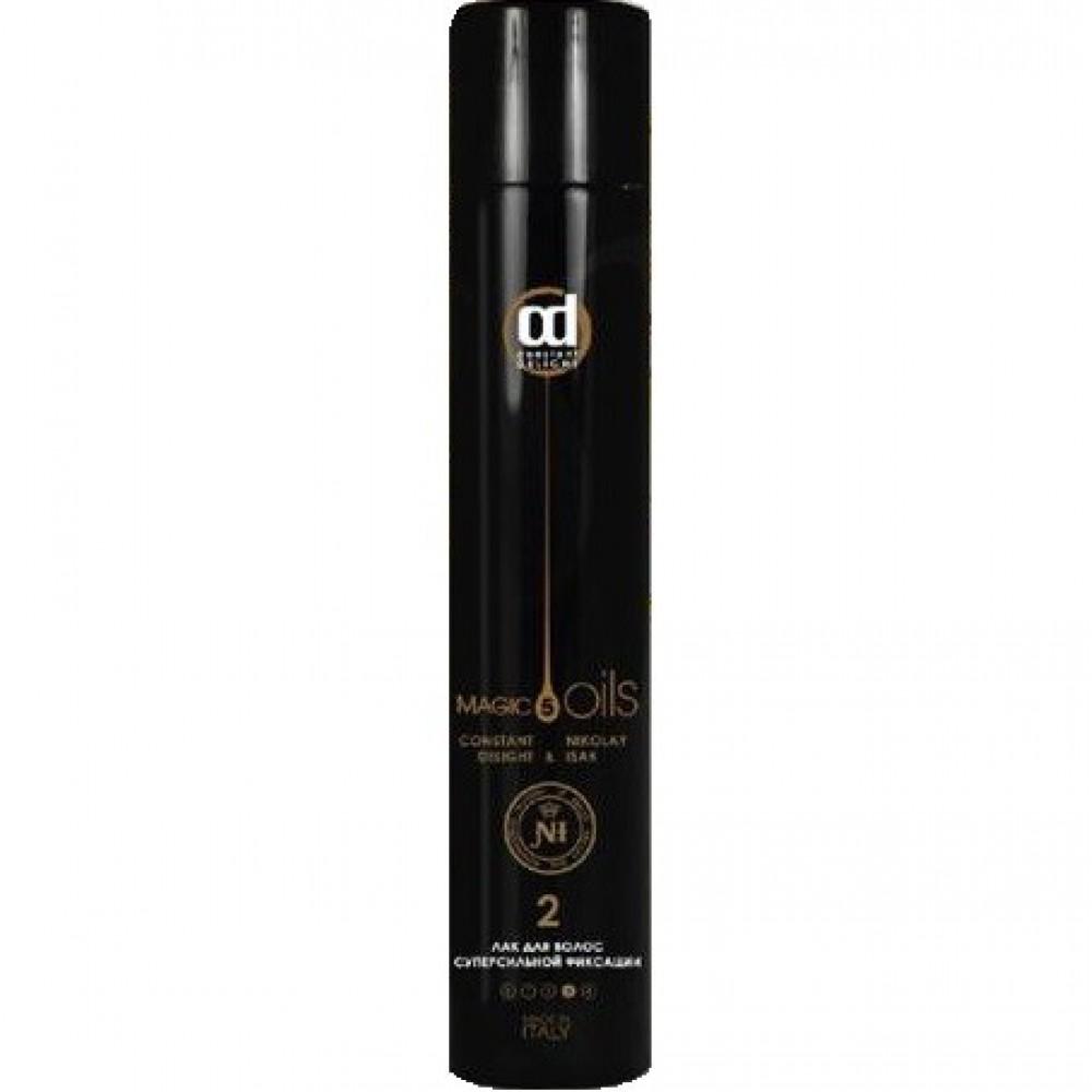 Лак для волос без запаха суперсильной фиксации 5 Magic Oils Constant Delight