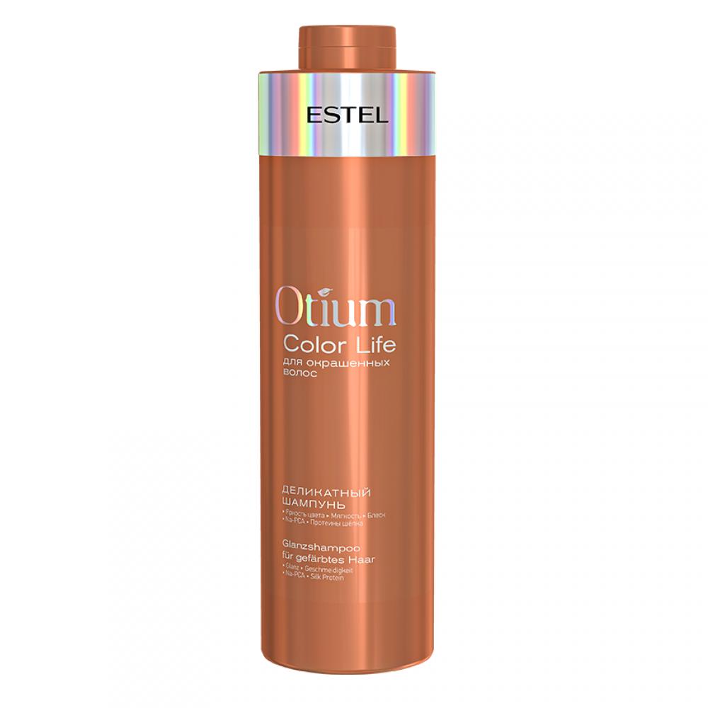 Деликатный шампунь для окрашенных волос Otium Color Life Estel