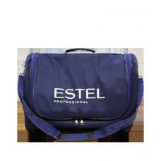 """Сумка-саквояж парикмахера """"Овал"""" синяя с логотипом Estel"""