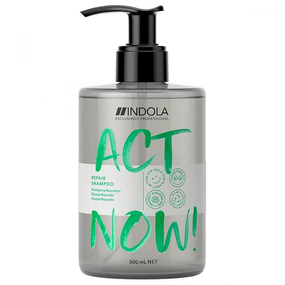 Шампунь для восстановления волос ACT NOW Indola