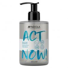Увлажняющий шампунь для волос ACT NOW Indola