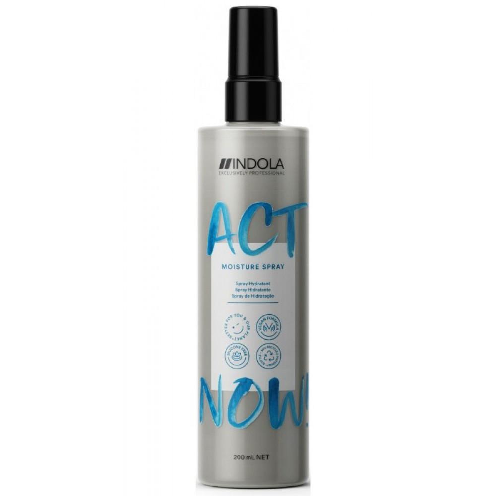 Увлажняющий спрей-кондиционер для волос ACT NOW Indola