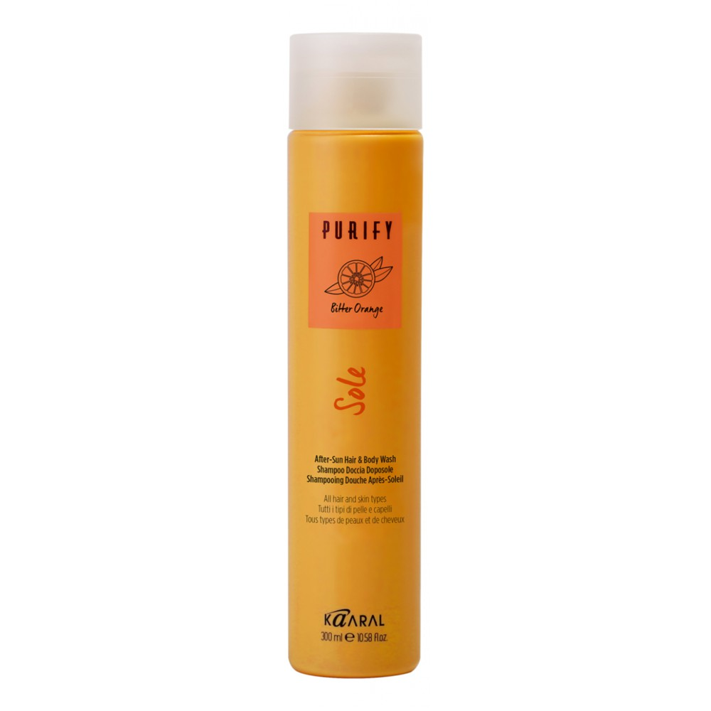 Шампунь для волос и тела после загара After-Sun Hair&Body Purify Sole Kaaral