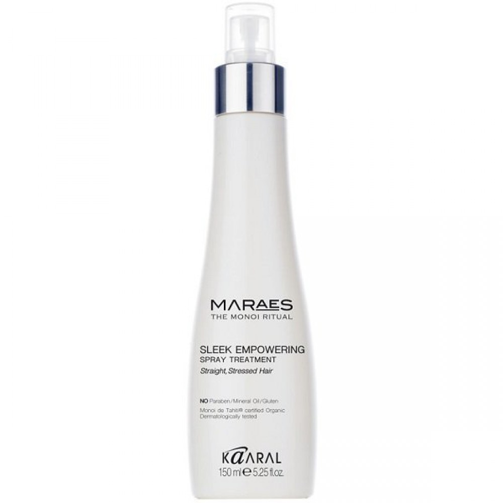 Восстанавливающий несмываемый спрей для прямых поврежденных волос Maraes Sleek Empowering Spray Treatment Kaaral