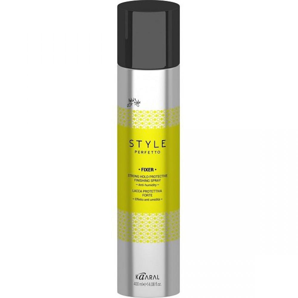 Защитный лак для волос сильной фиксации Style Perfetto Fixer Strong Hold Protective Finishing Spray Kaaral