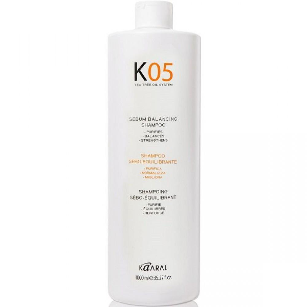 Шампунь для восстановления баланса секреции сальных желез К05 Sebum-Balancing Shampoo Kaaral