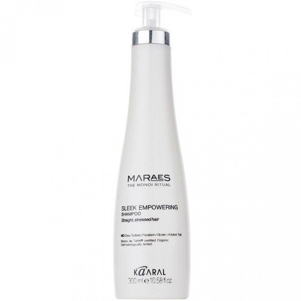 Восстанавливающий шампунь для прямых поврежденных волос Maraes Sleek Empowering Shampoo Kaaral