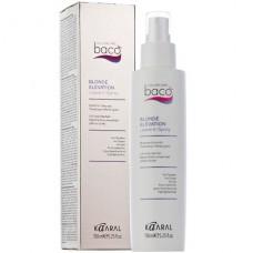 Несмываемый спрей-блеск для светлых, седых и золотистых волос Baco Blonde Elevation Leave In Spray Kaaral