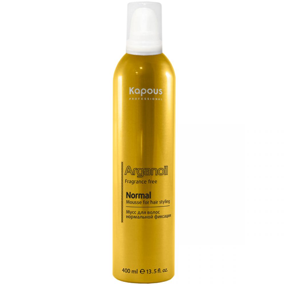 Мусс для укладки волос нормальной фиксации с маслом арганы Arganoil Kapous