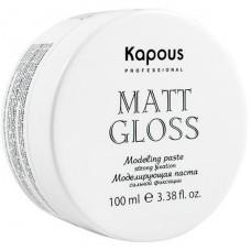 Паста моделирующая сильной фиксации Matt Gloss Kapous