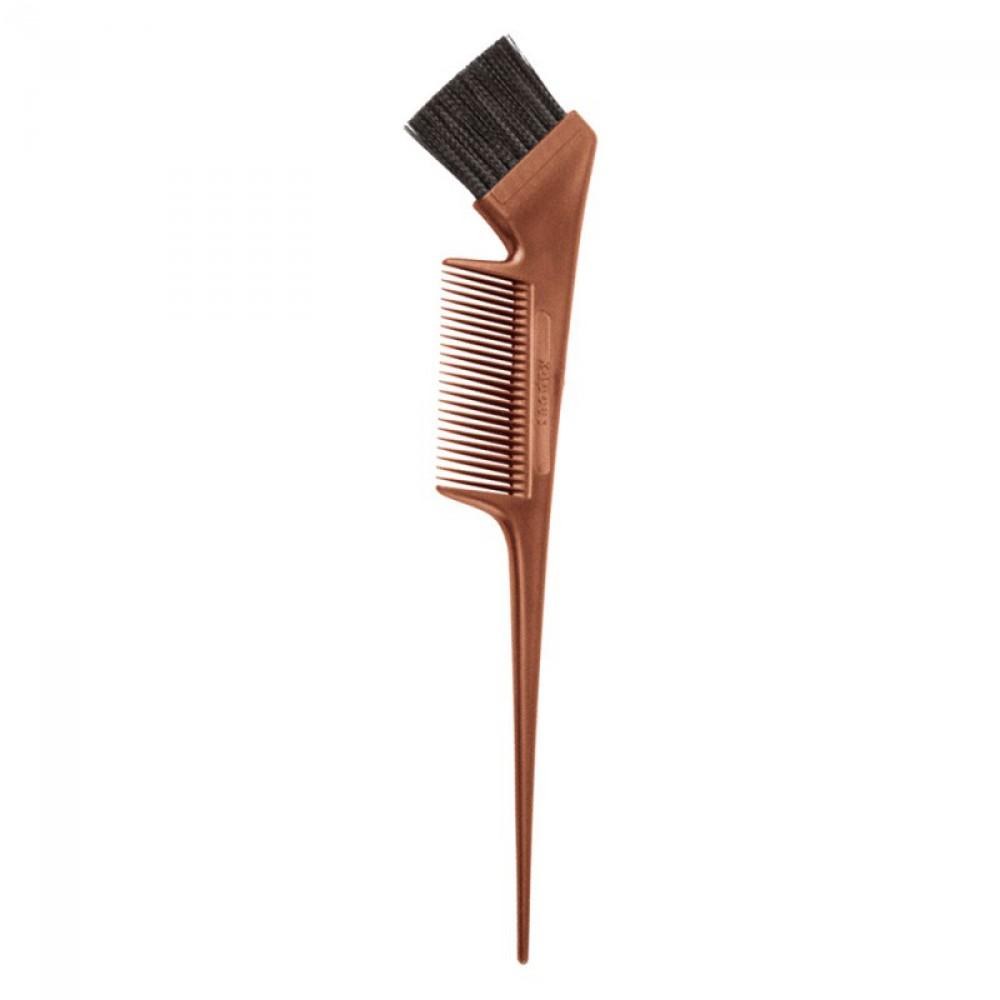 Кисть бронзовая с расческой для окрашивания волос Kapous