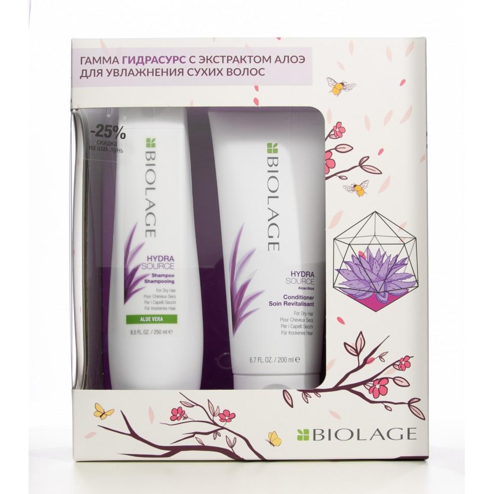 Набор для увлажнения волос Biolage Hydrasource Matrix